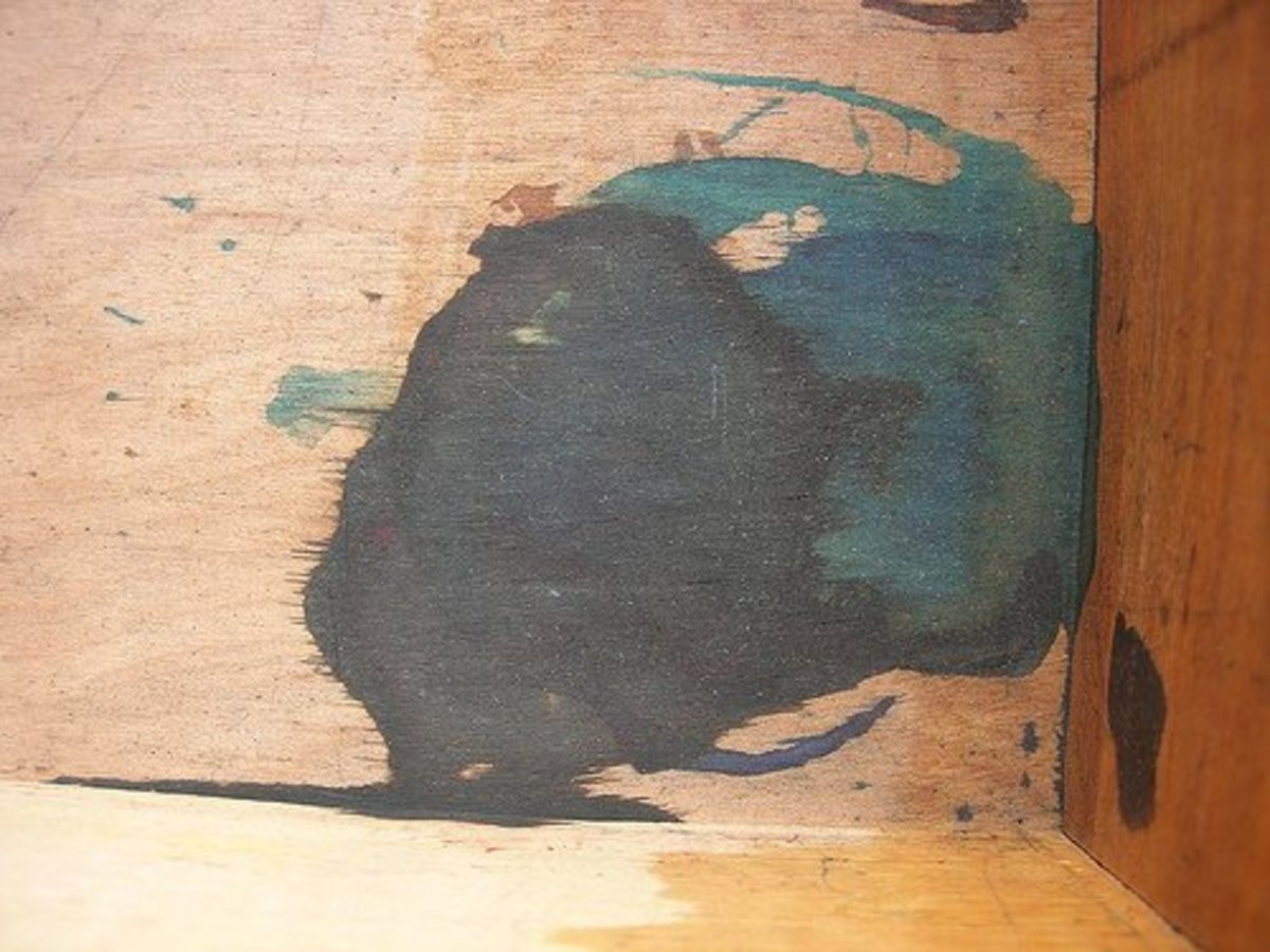 Removing ink from wood can be very difficult.