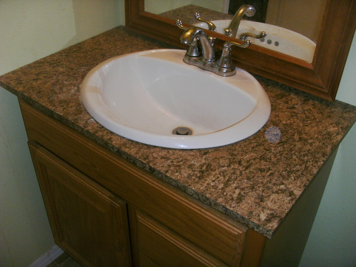 How To Install Laminate Formica For A Bathroom Vanity Countertop Dengarden
