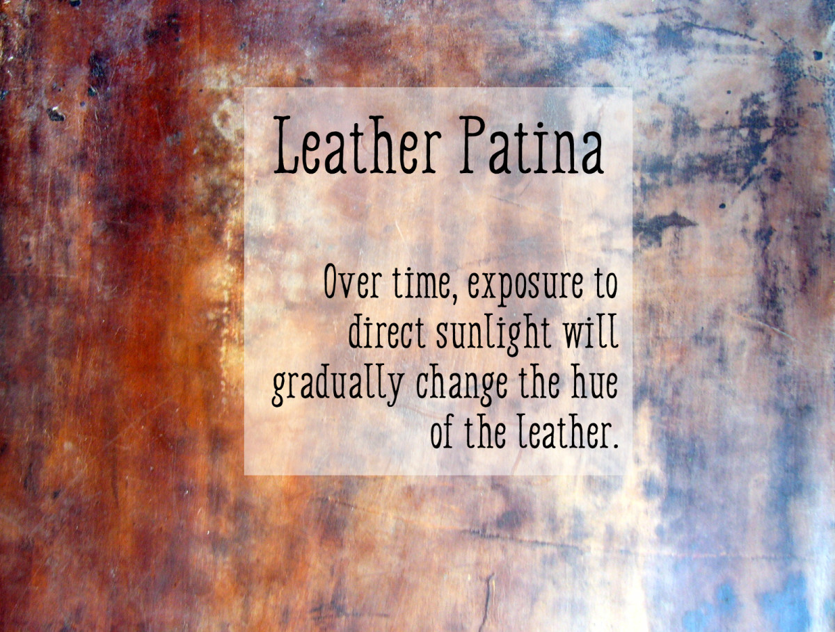 Leather Will Patina When Exposed to Sunlight