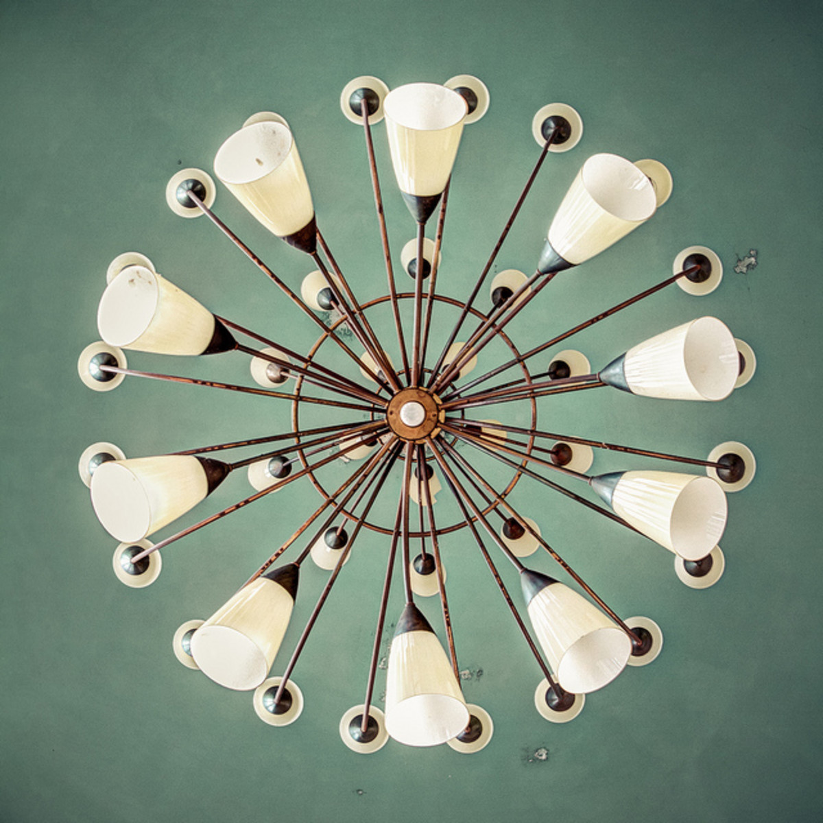 This is a contemporary take on traditional chandeliers.