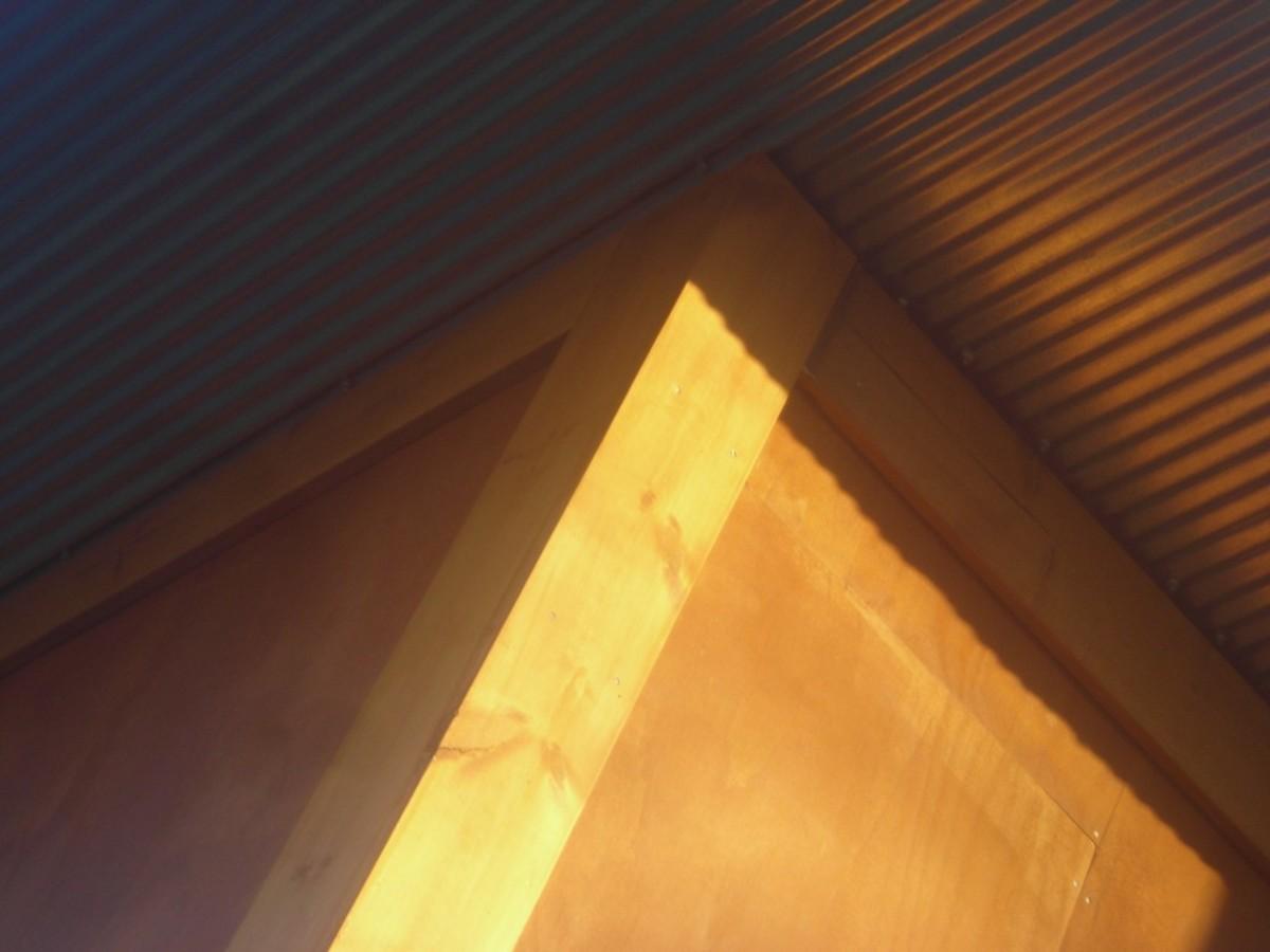 galvanized metal soffit