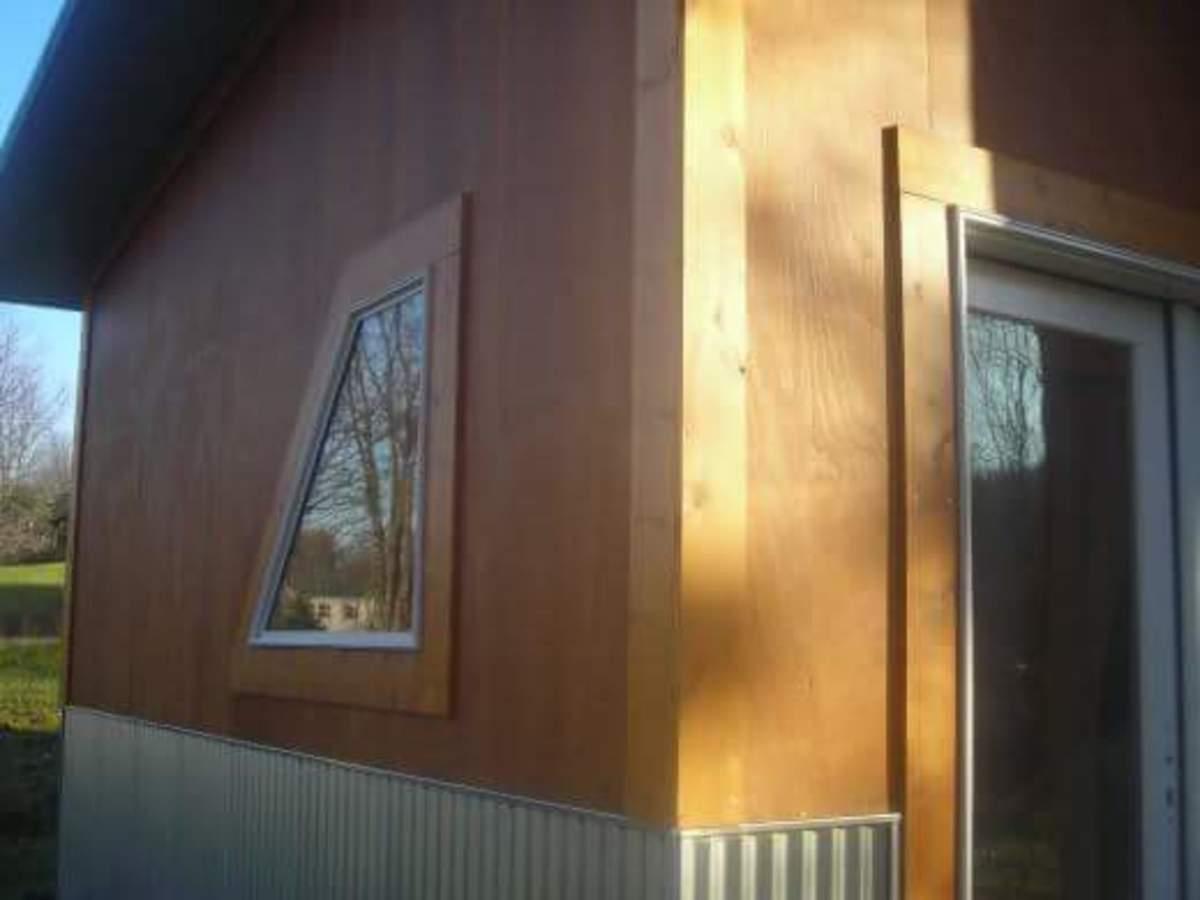 Pole barn house doors and windows.