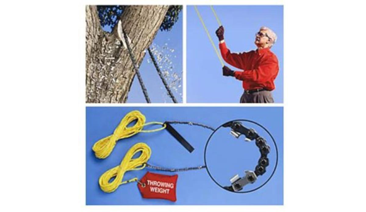 A high limb rope saw