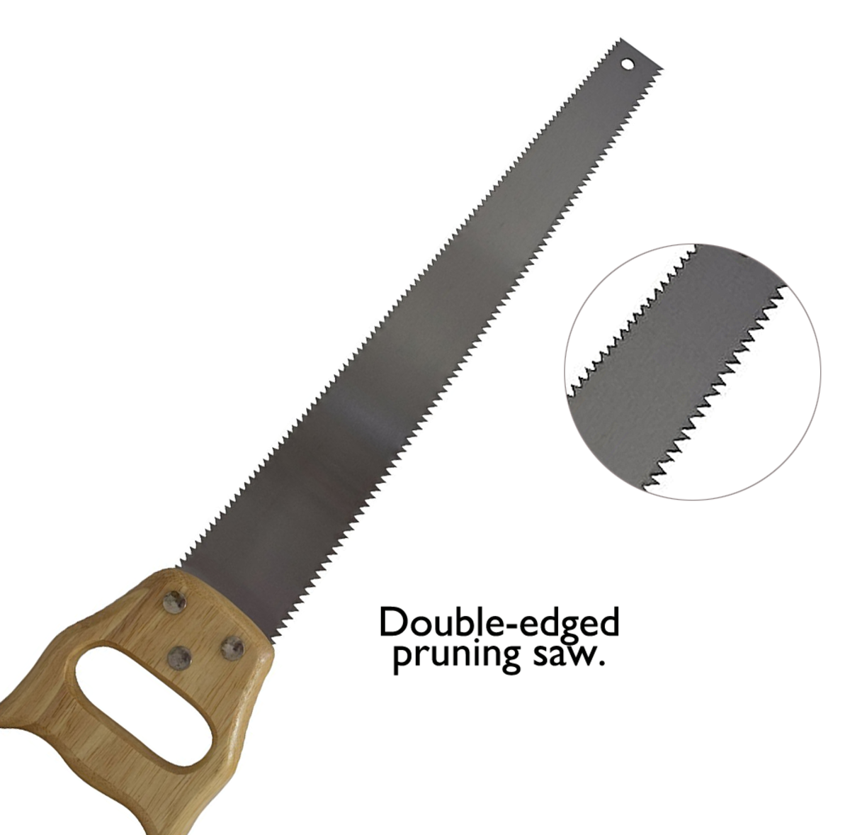 Double edged pruning saw, ideal for prized specimens.