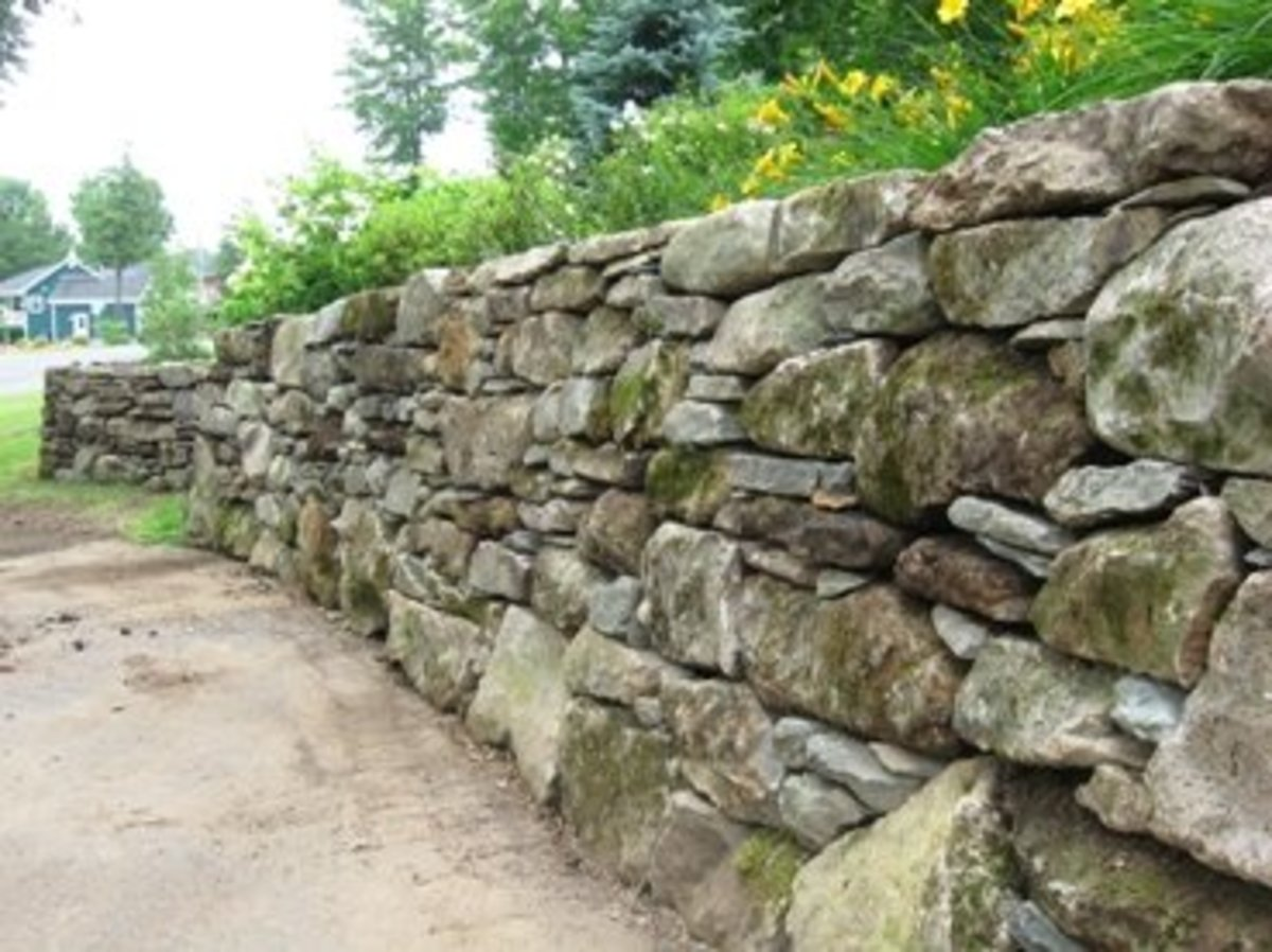 These Mossy Stones Make A New Wall In Bromont Qc Look As Though It Has