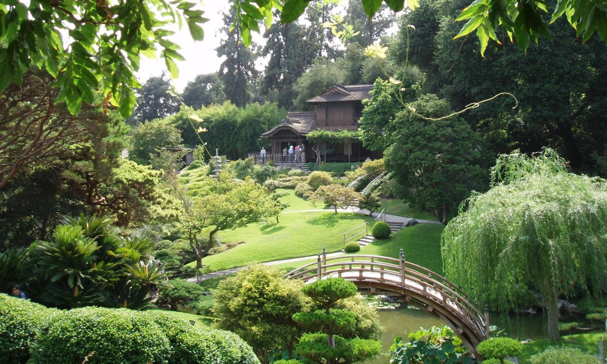 Japanese Zen Garden style - peaceful, relaxing, meditative. Taken at the Huntington Demonstration Gardens in Pasadena, California, 2015.