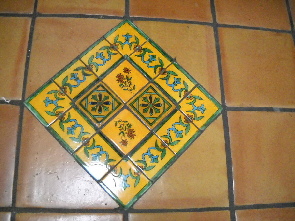 Yellow Talavera on Saltillo