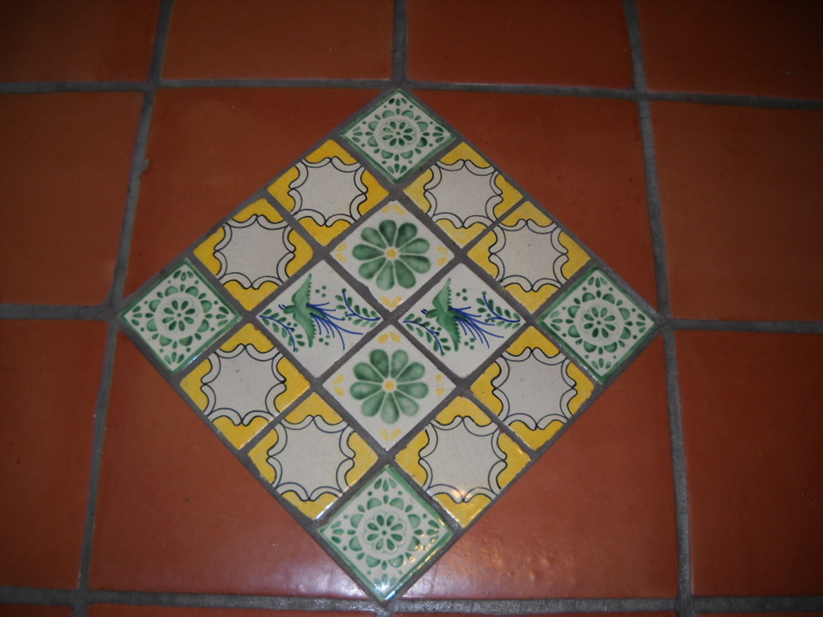 Classic two -color tiles.