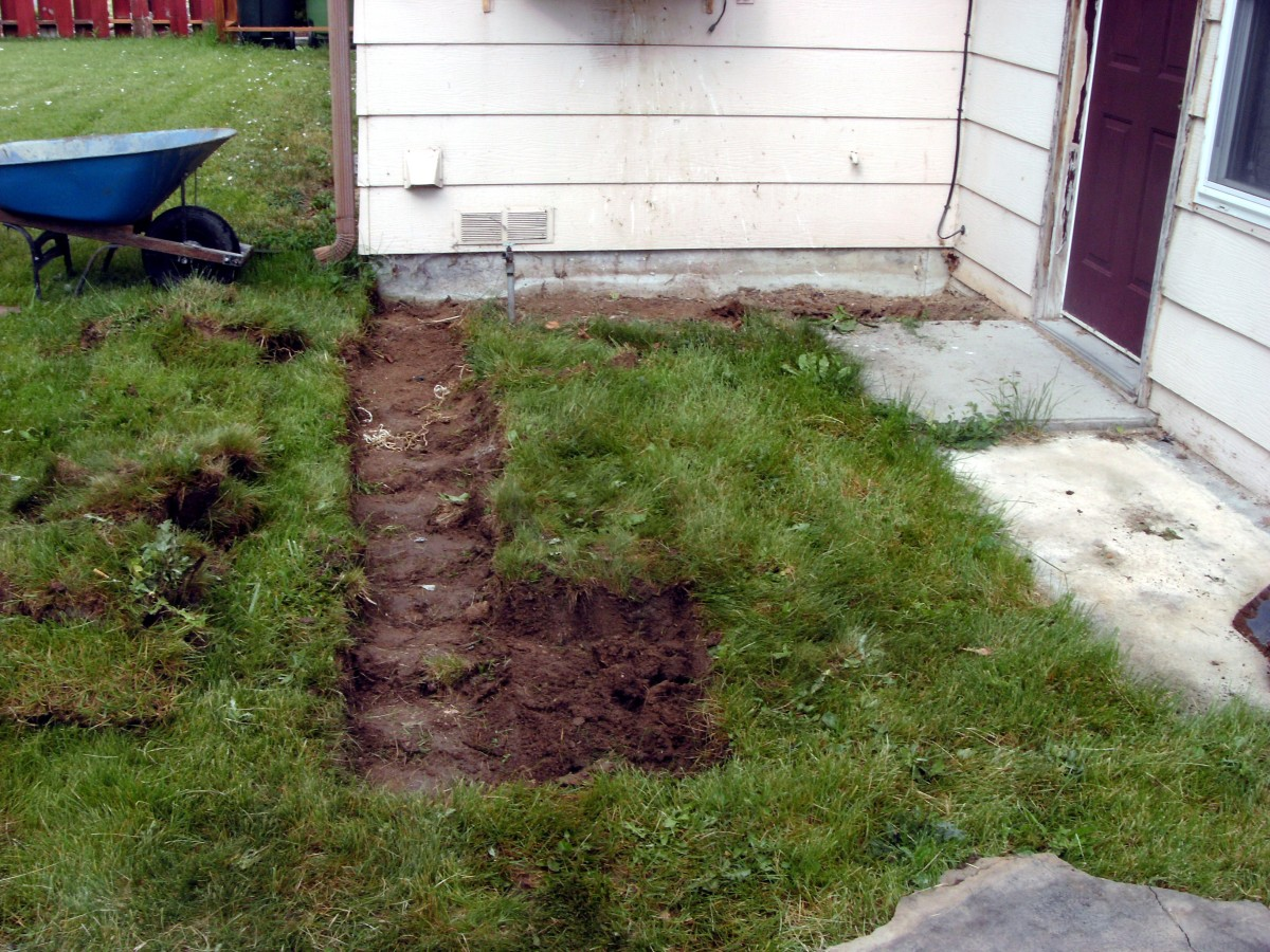 Removal of the sod as begun.