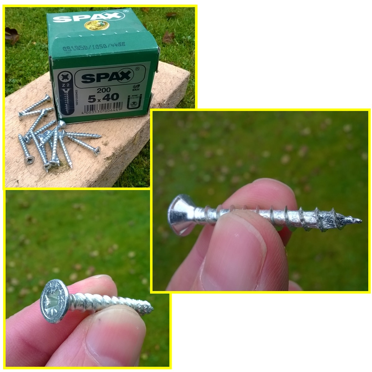 Spax wood screws