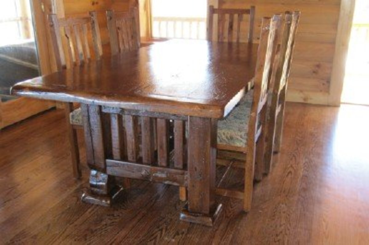 """""""Grace,"""" as the owners named her, was built from the reclaimed American chestnut of an 1810 barn in Eastern Tennessee."""