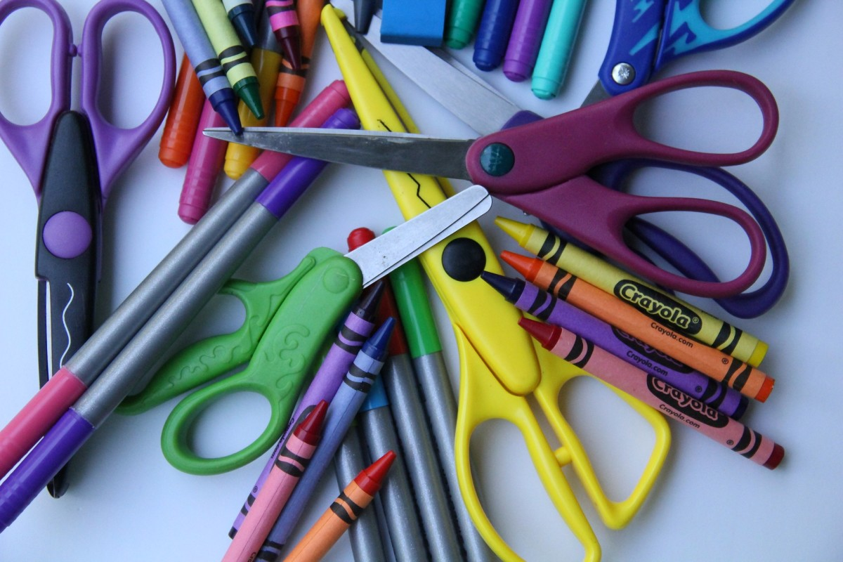 Unused arts and crafts supplies can be donated to local schools or youth centers.