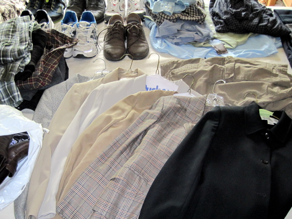 Donate used clothing in good condition.