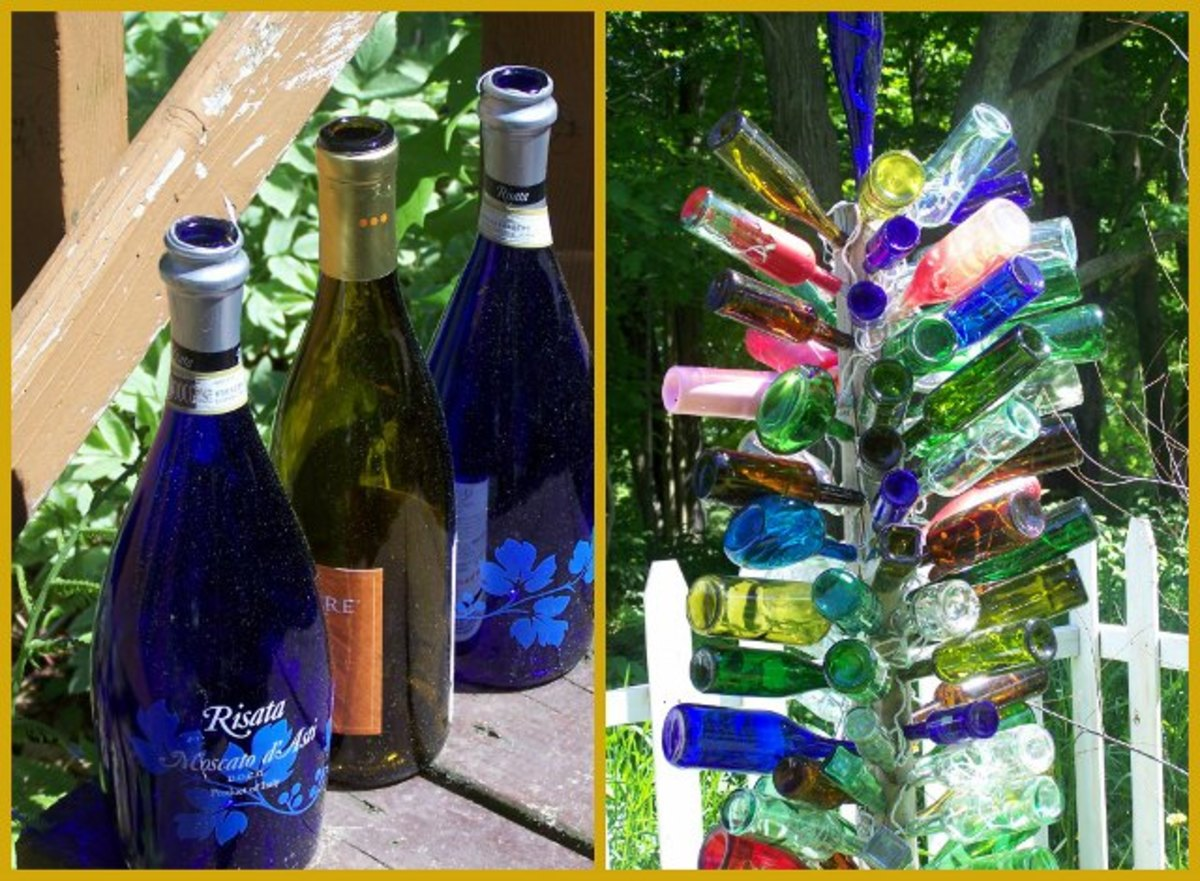 My bottle tree. These three will be added soon.