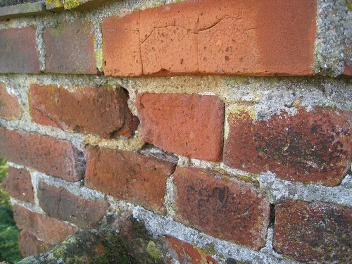 This is an example of a brick wall that needs repointing. Don't go over the top with the old stuff, though. Rake it out and do it properly!