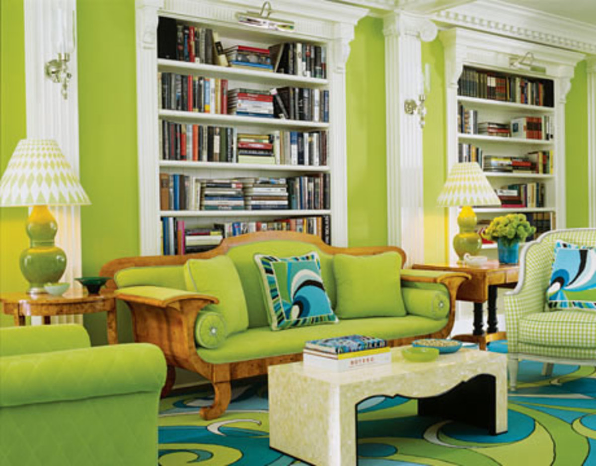 Lime green and turquoise. You can't go wrong with this lively combination.