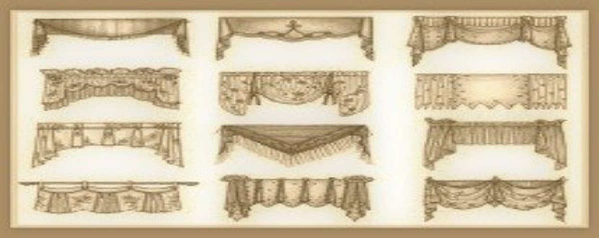Some of the endless types of valances