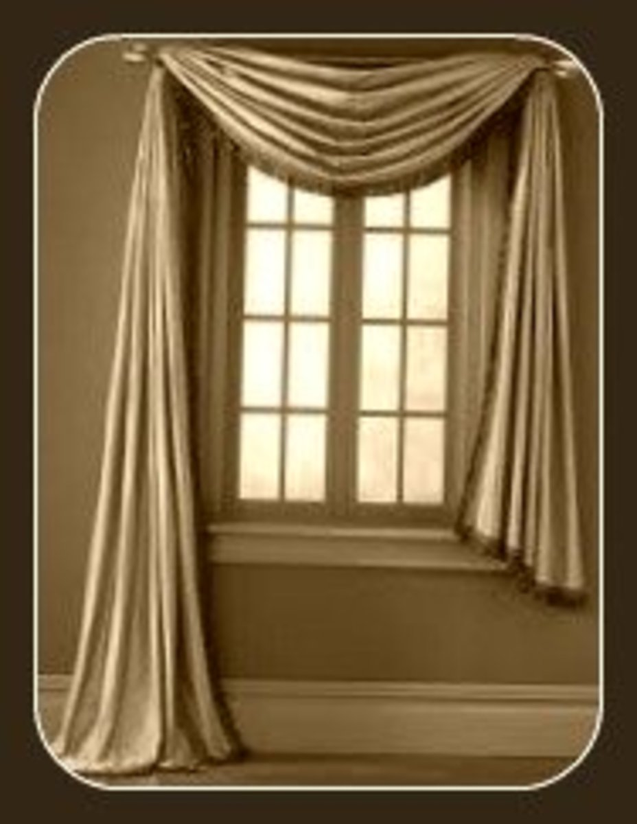 Window Scarf   Is A Long Rectangular Panel Of Flowy Fabric That Is Draped  Over A Decorative Curtain Rod, Swag Holders, Suspended From Other Specialty  ...