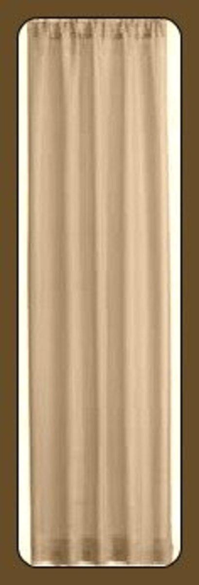 One drapery panel, with rod pocket and hem