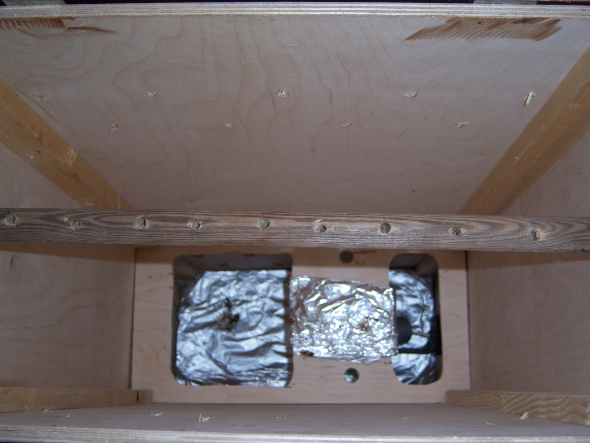 View into the biltong box from the top....