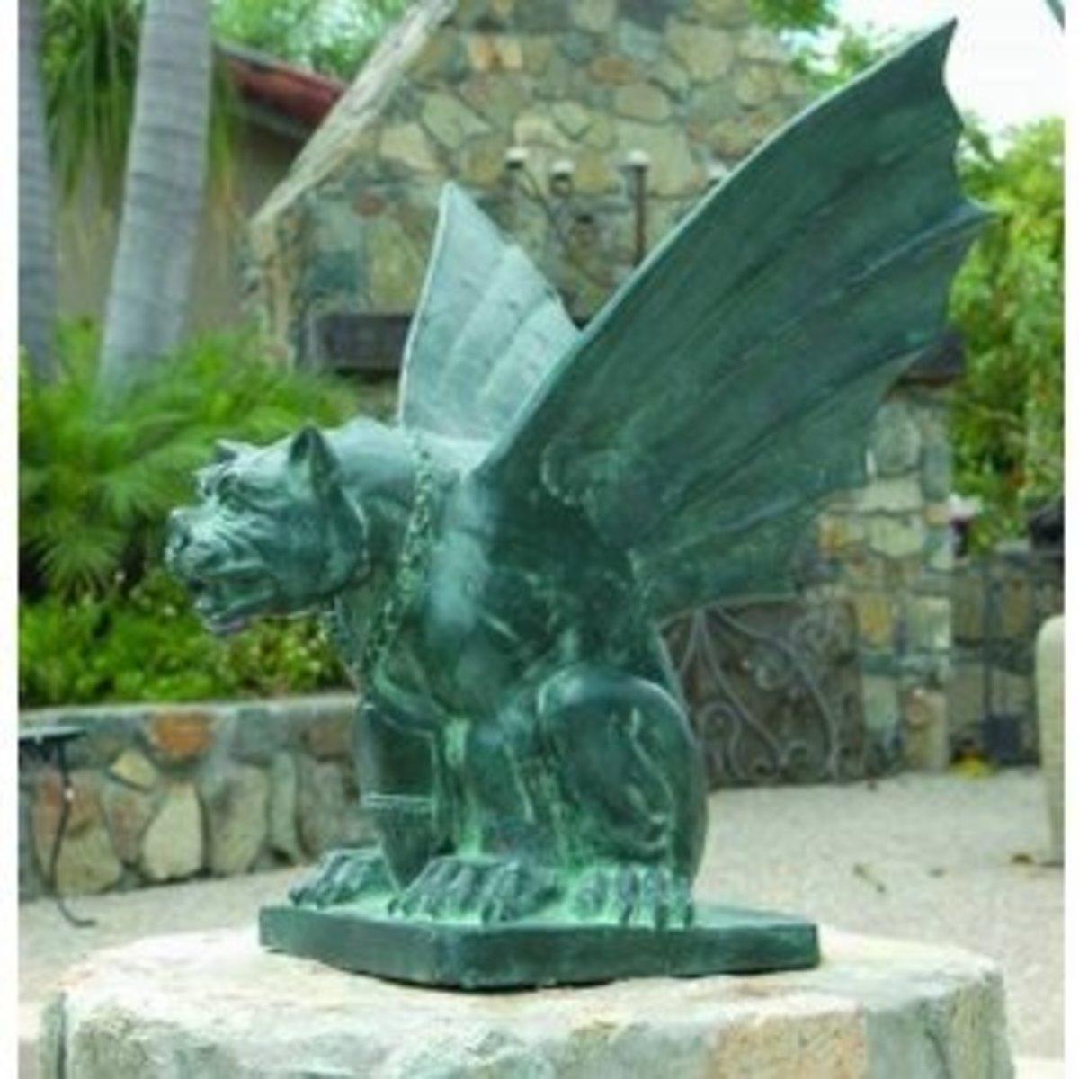 Brass Baron Large Gargoyle Statue