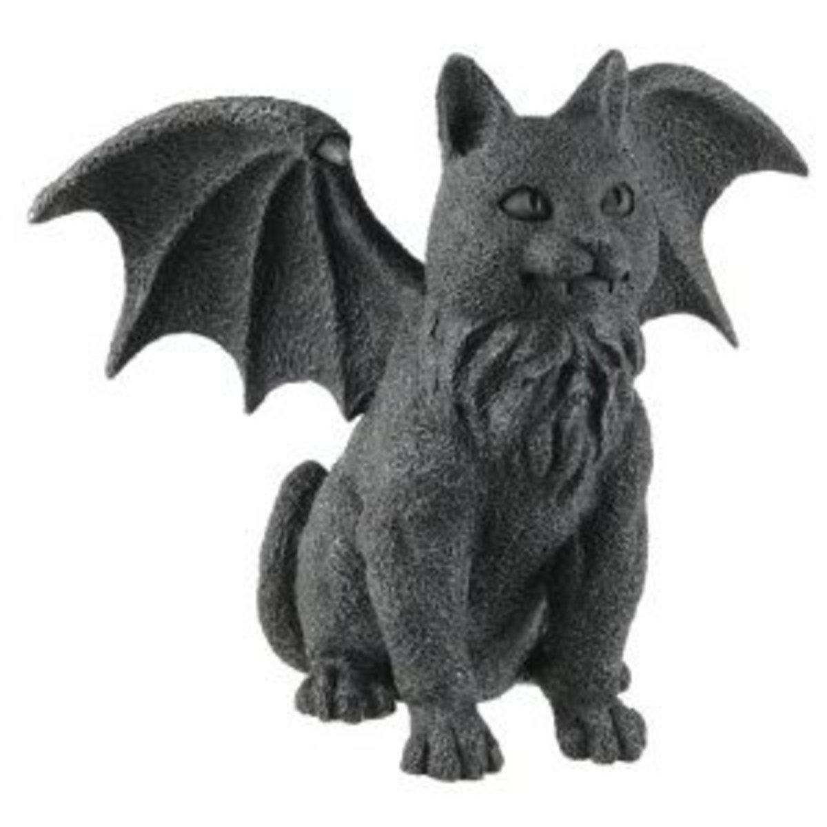 Winged Cat Gargoyle