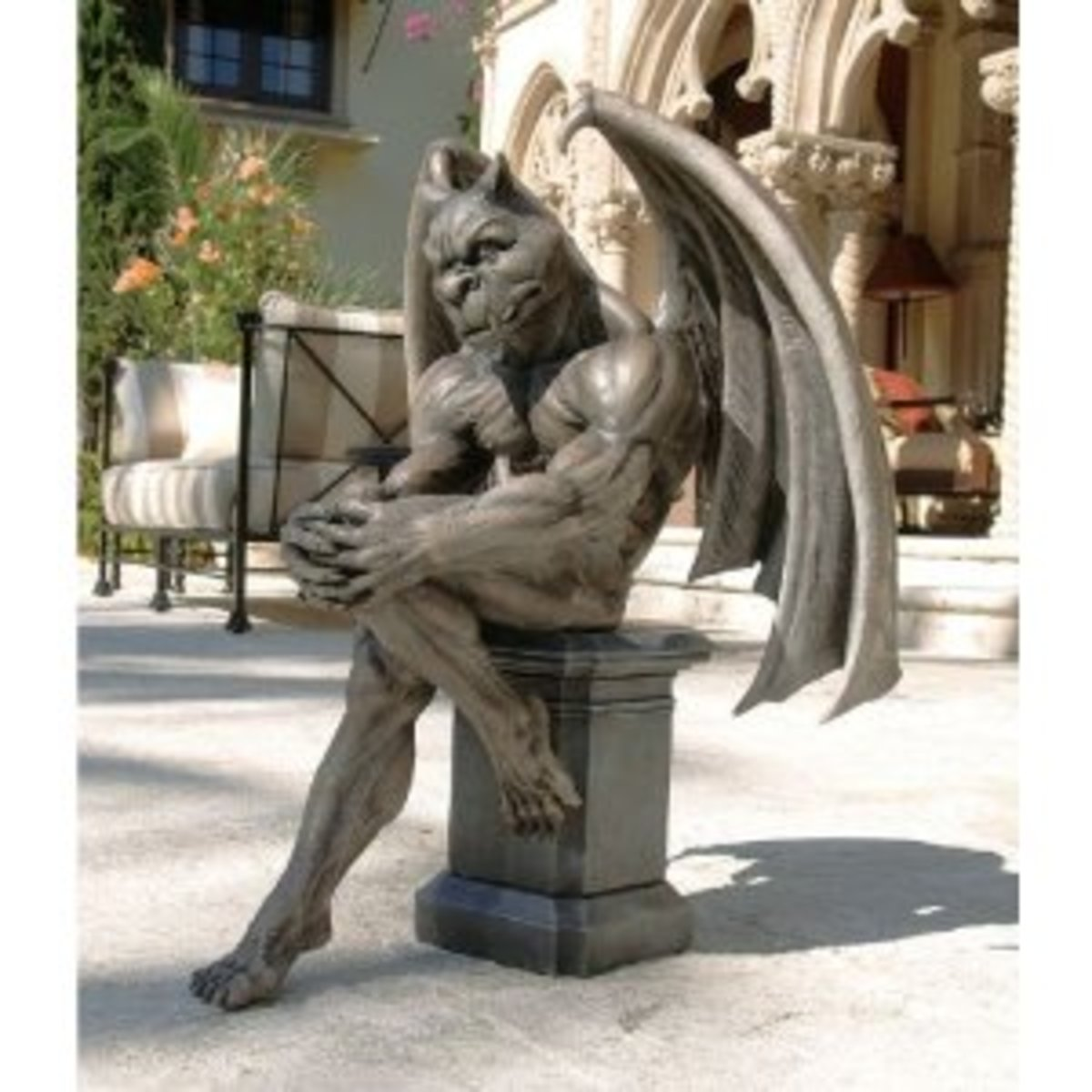 Socrates The Thinker Gargoyle Statue