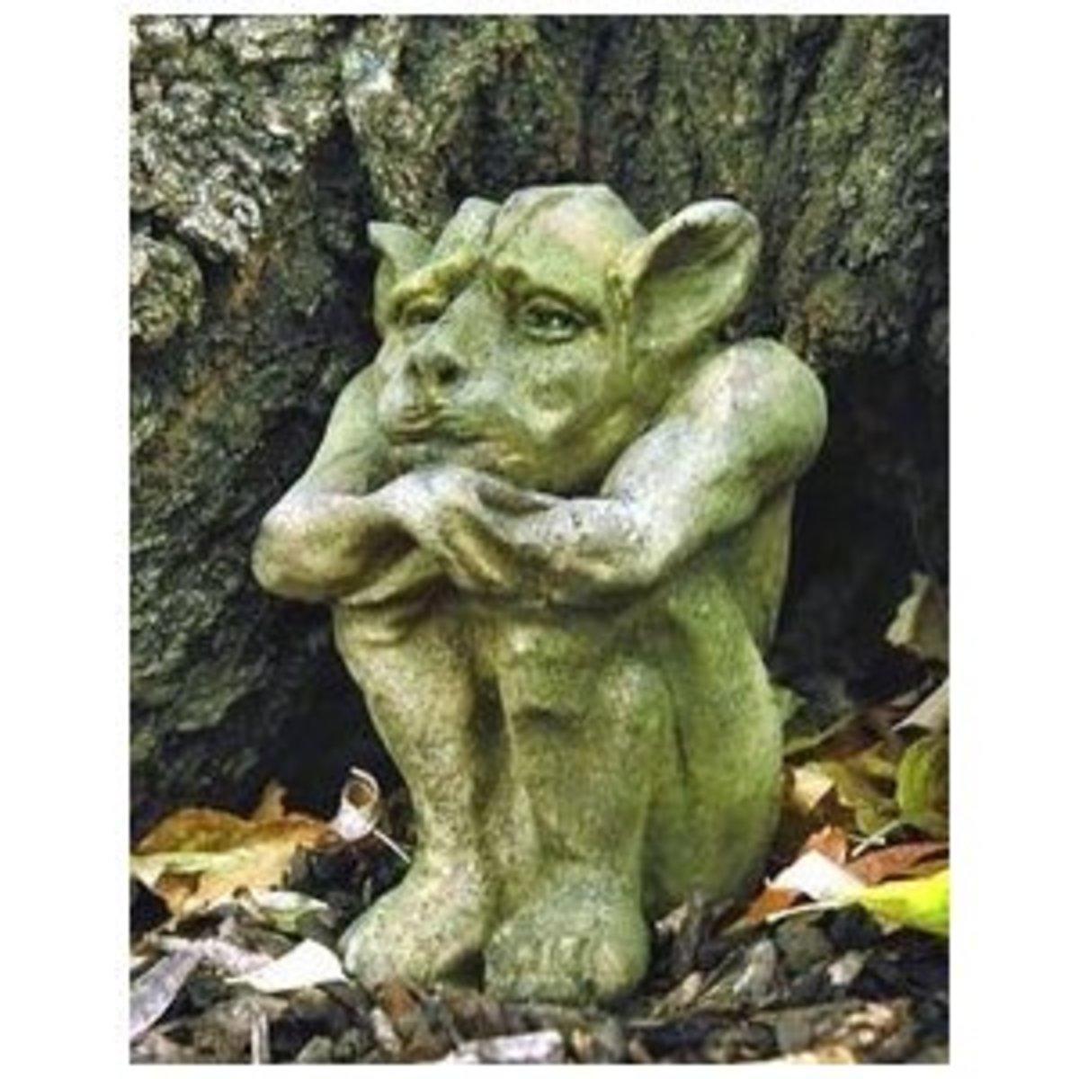 Emmett Fiber Stone Medium Gargoyle Statue
