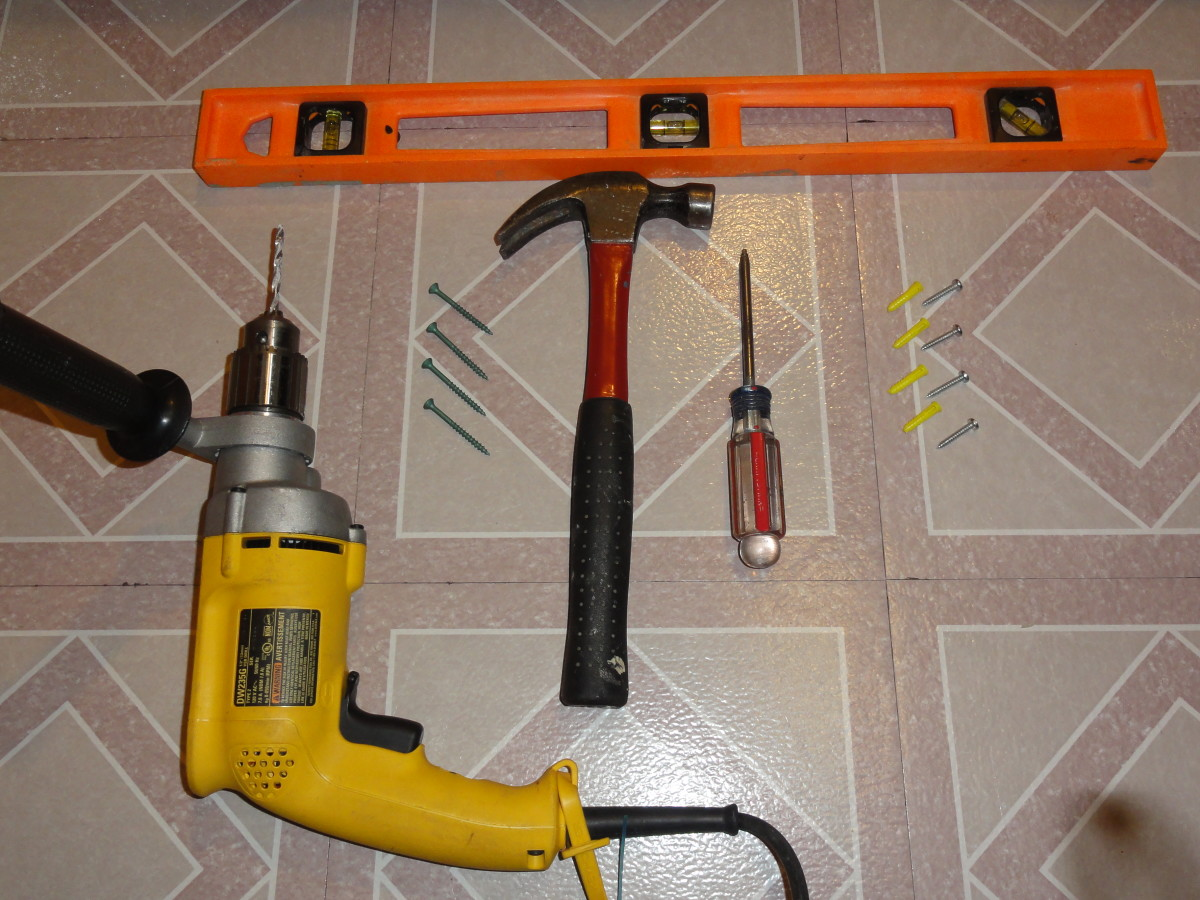 These are the tools I used to install my brackets and shelf.