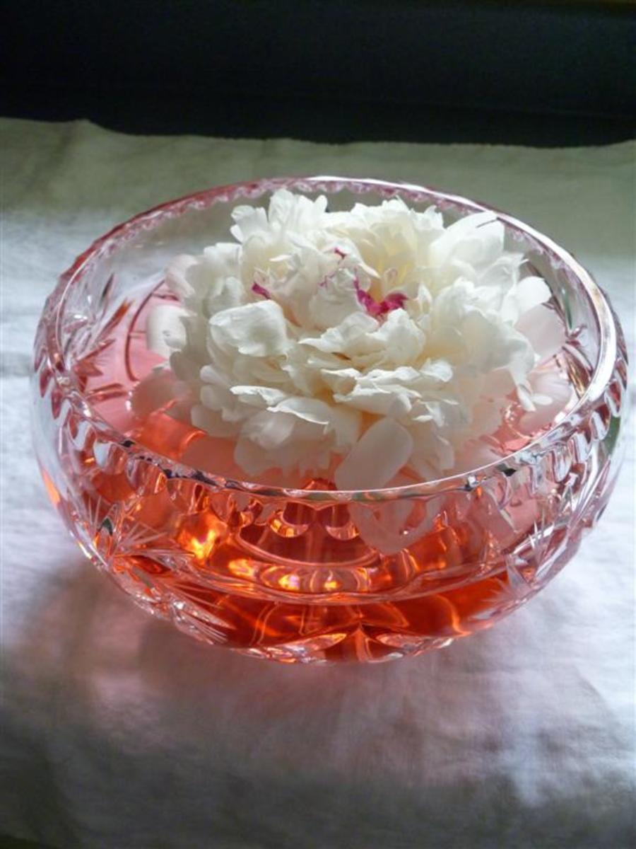 A floral centerpiece.