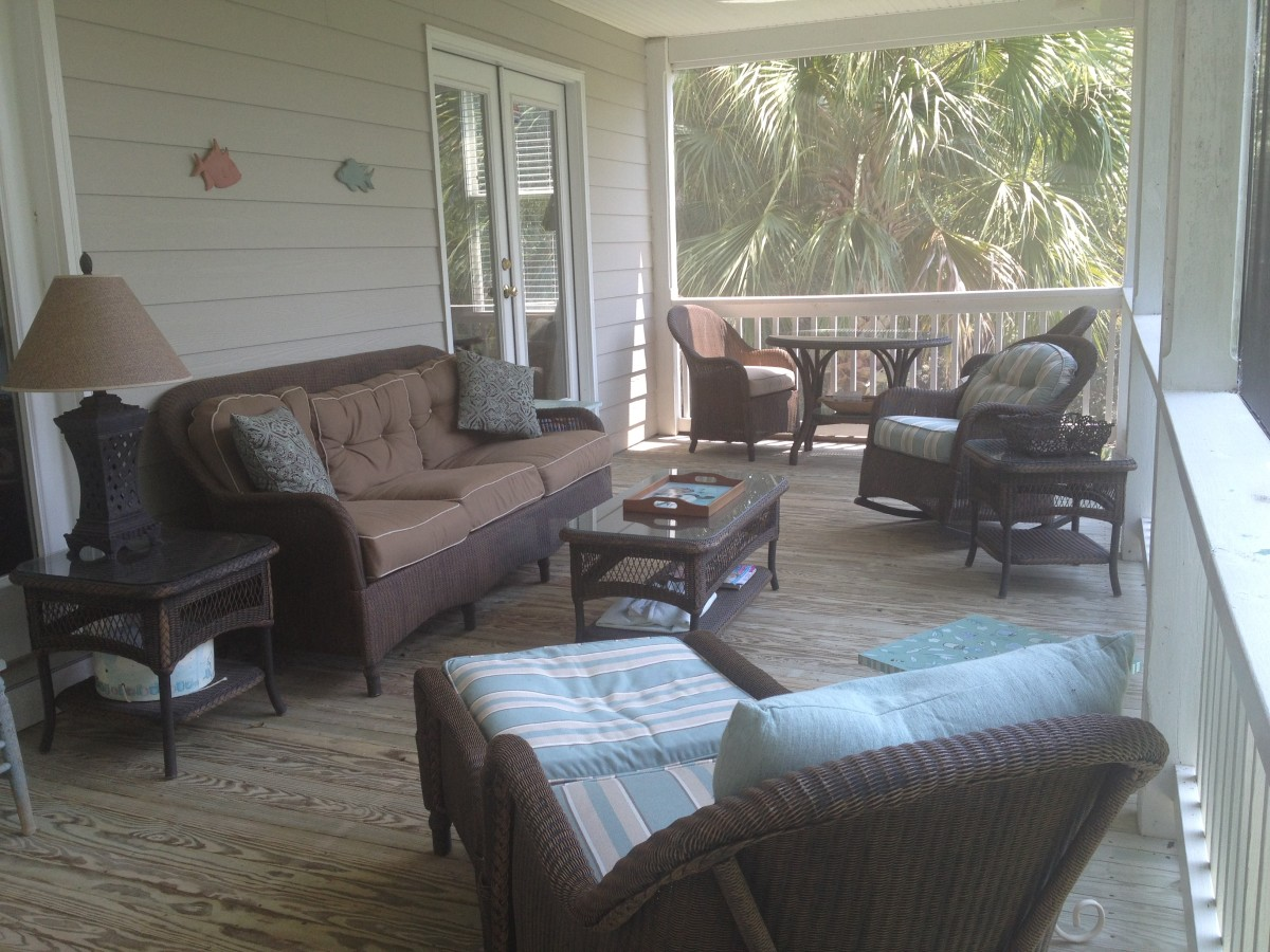Spring cleaning a porch: You will enjoy your porch after it has been deep cleaned.