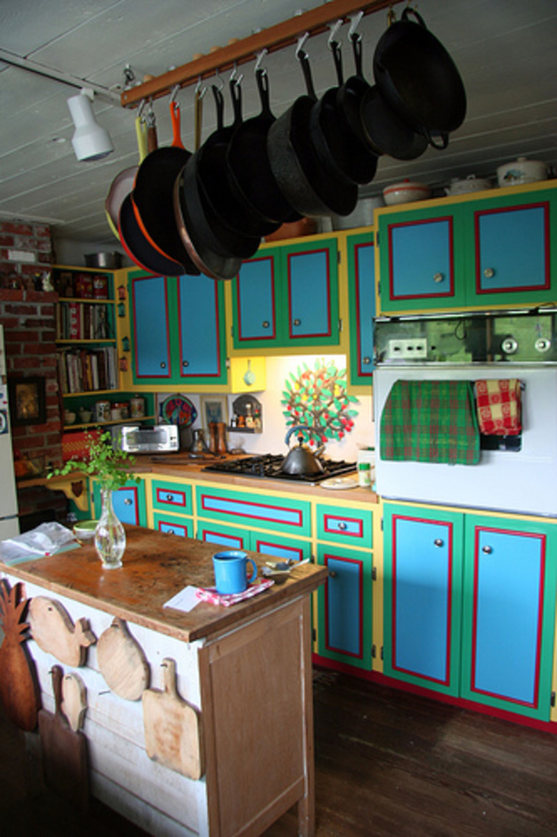 Stylishly Painted Kitchen Cabinets