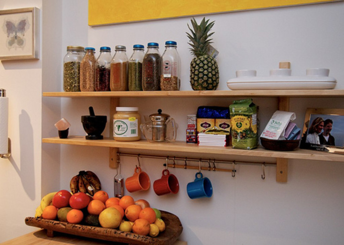Wall shelves can double your storage space!