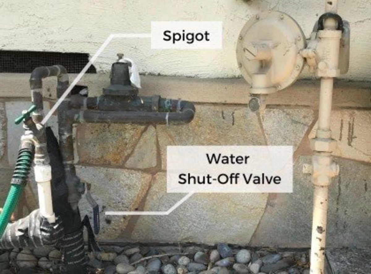 Outdoor faucets often have their own shutoff valves, which can be located near the spigot or inside the house on the wall where the faucet is. If yours doesn't, you'll have to look for the main shutoff valve.