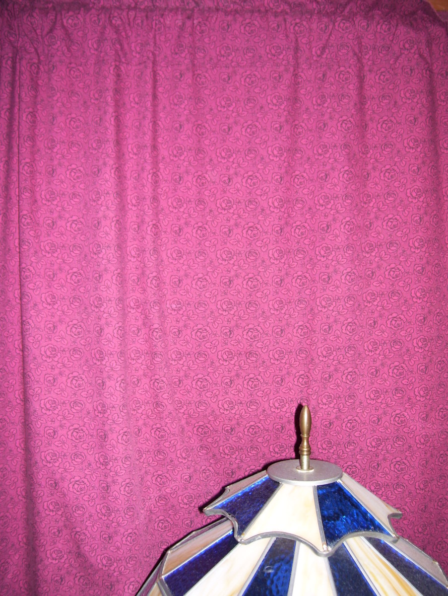 Curtains repurposed from sheets