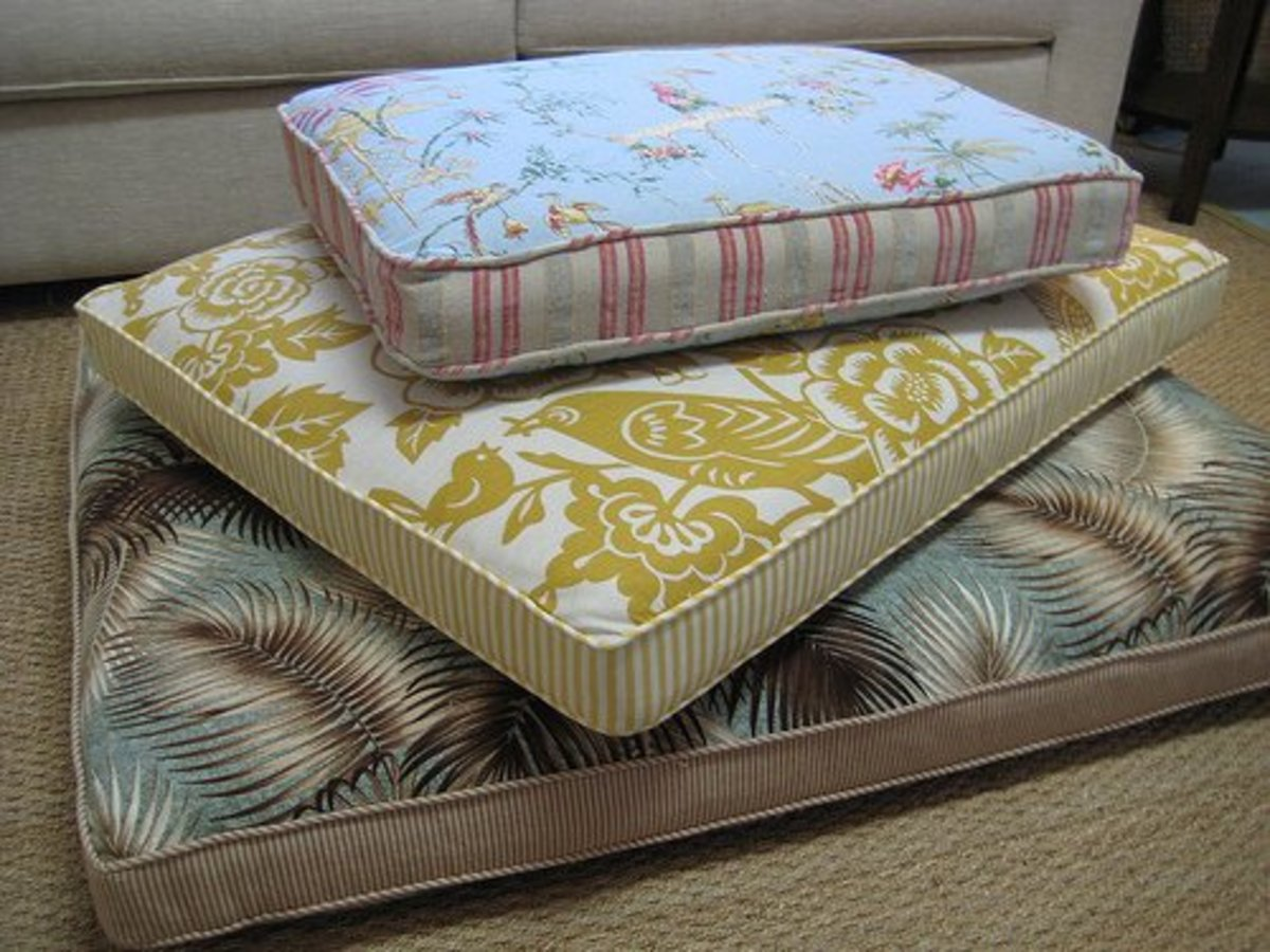 A selection of memory foam dog beds.