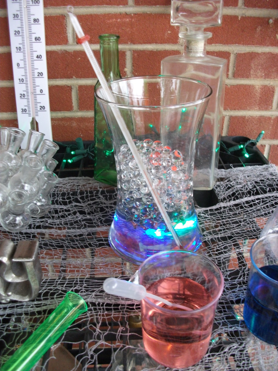 The water beads make great science themed props.