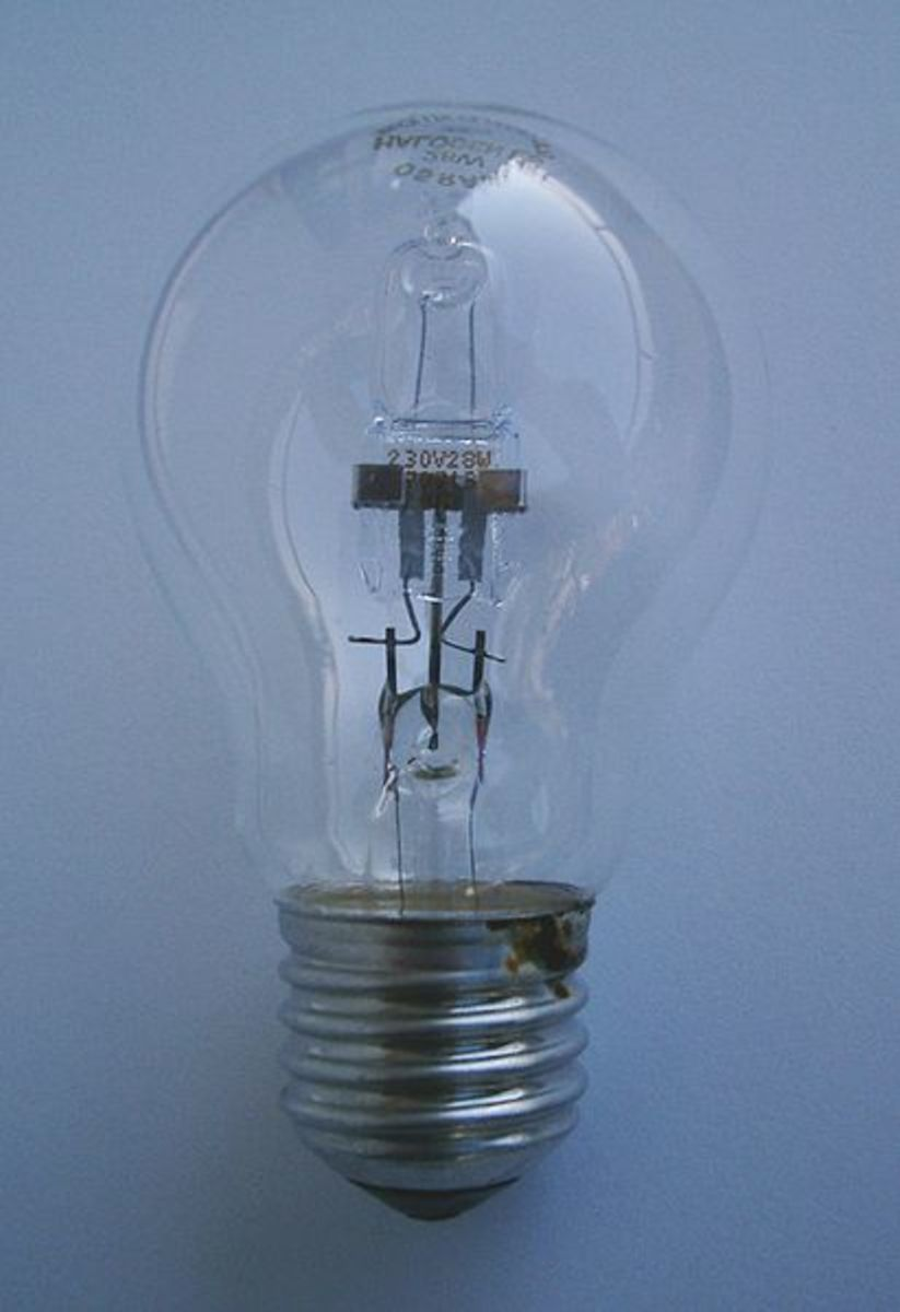 Halogen Replacement for Standard Incandescent Bulb