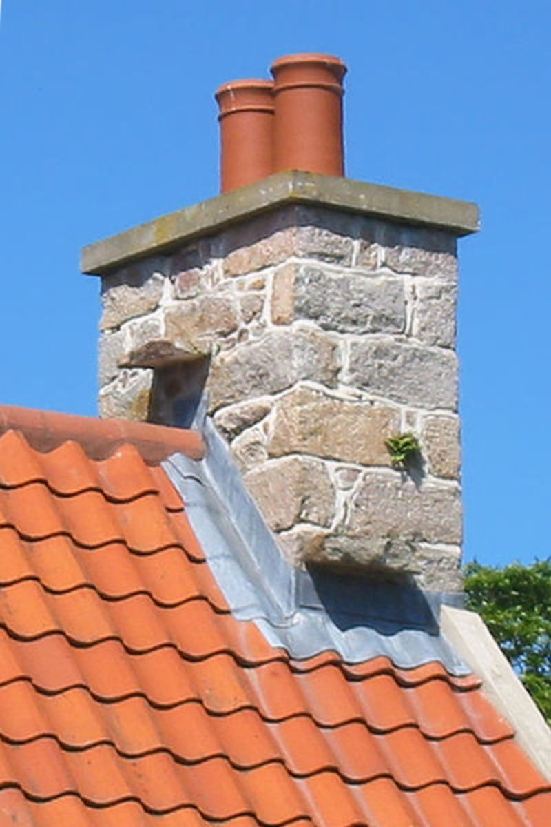 Flashing around a chimney