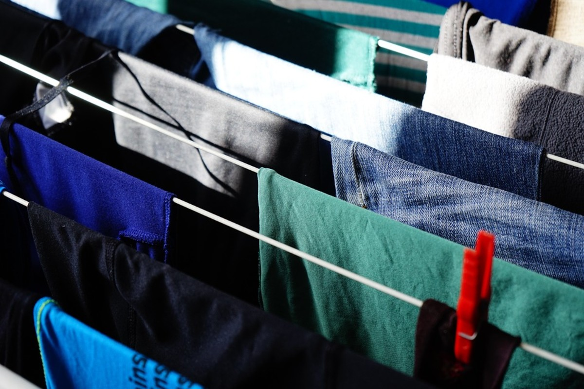 Drying laundry indoors creates moisture in the air