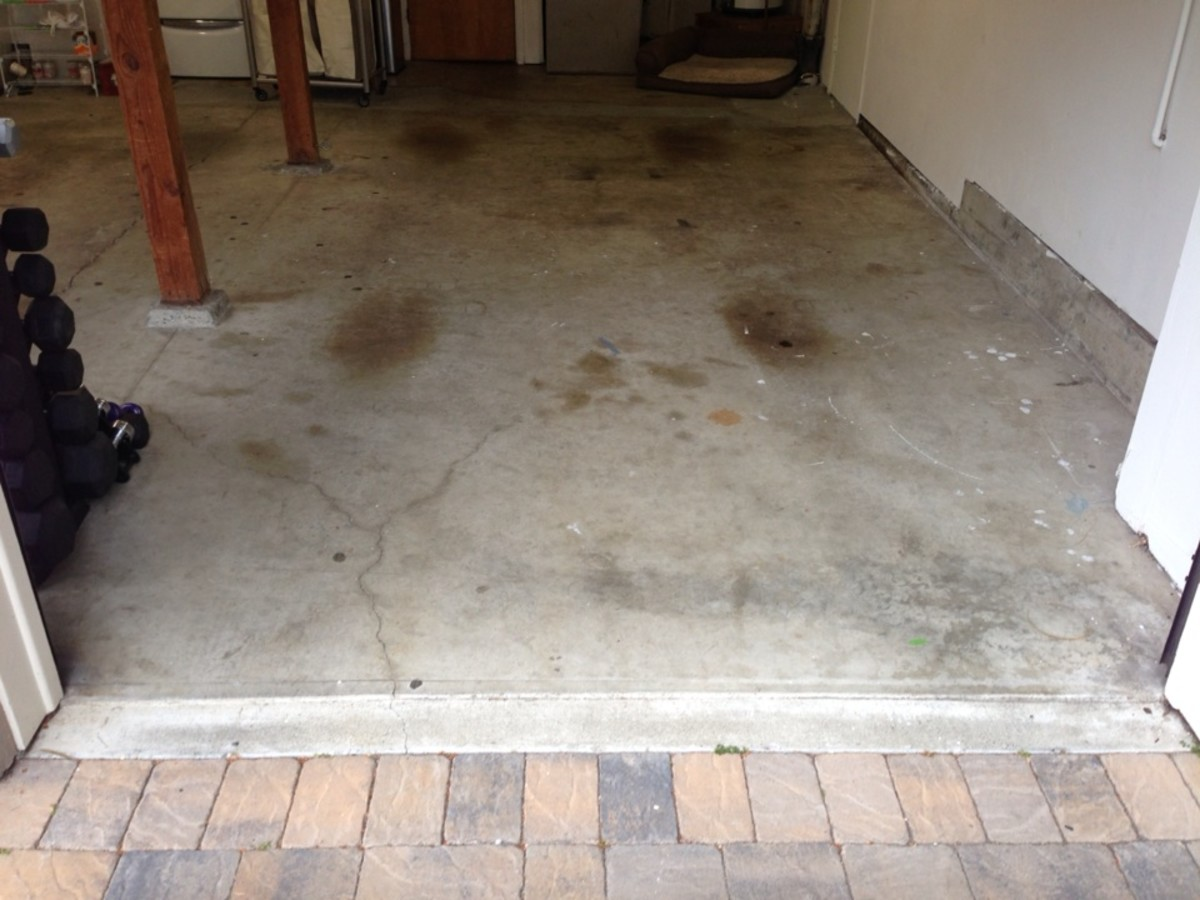 Before our garage floor was done with epoxy