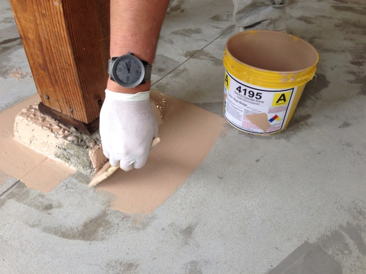 Painting on the epoxy