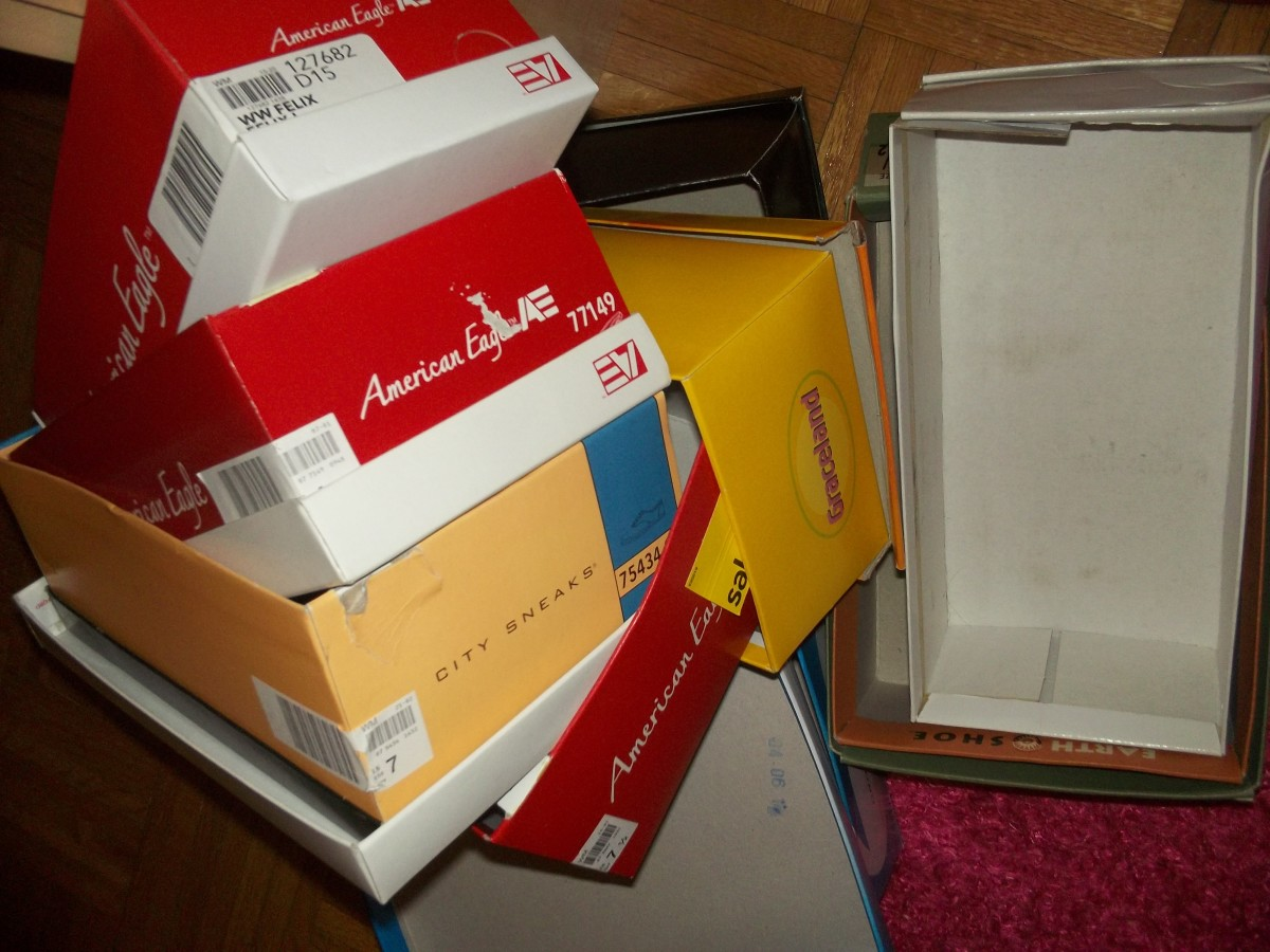 Recycle your shoe boxes.