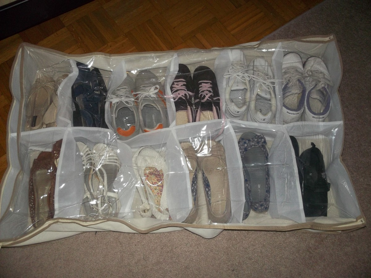 A low-budget option for storing shoes.
