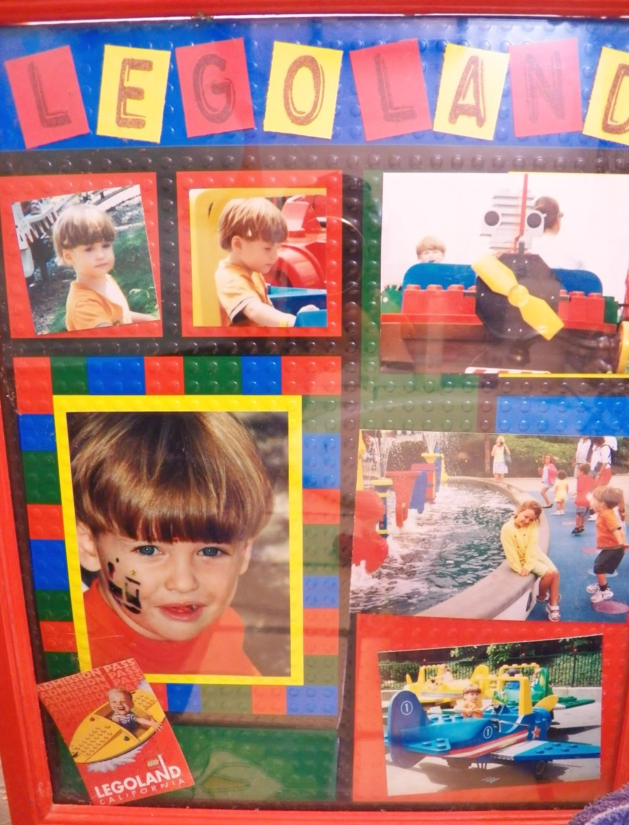 Lego Scrapbook page in Frame