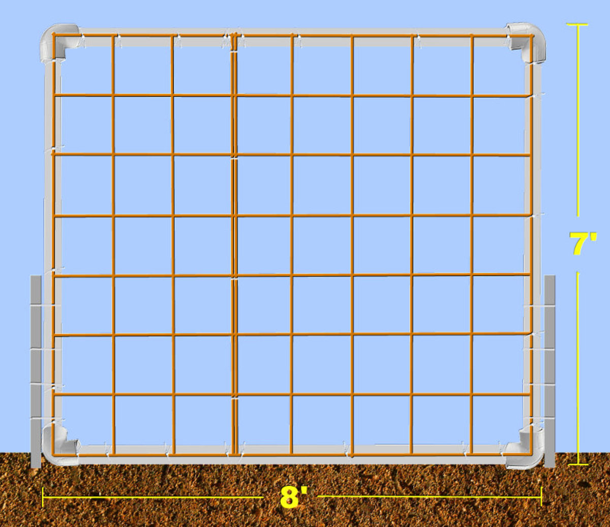 Build a Pumpkin Trellis With PVC Pipe and Remesh