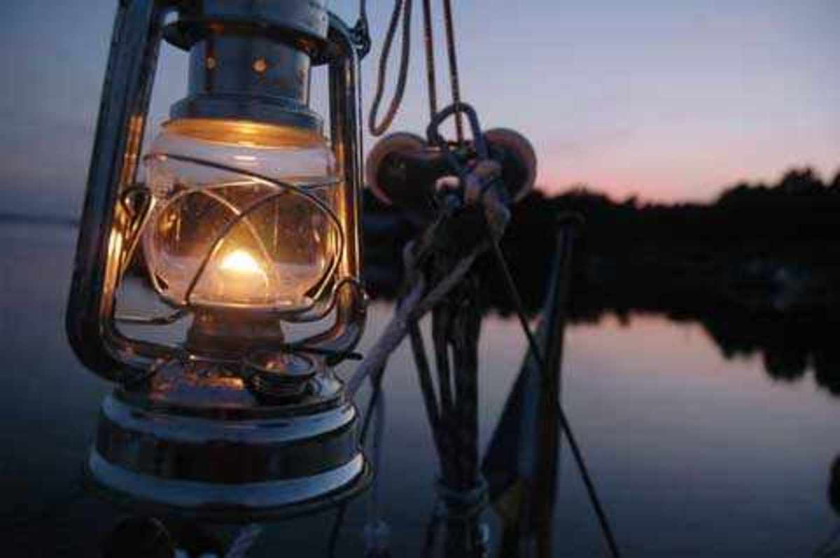 Nothing beats the ambiance of a true oil lamp after the sun goes down.