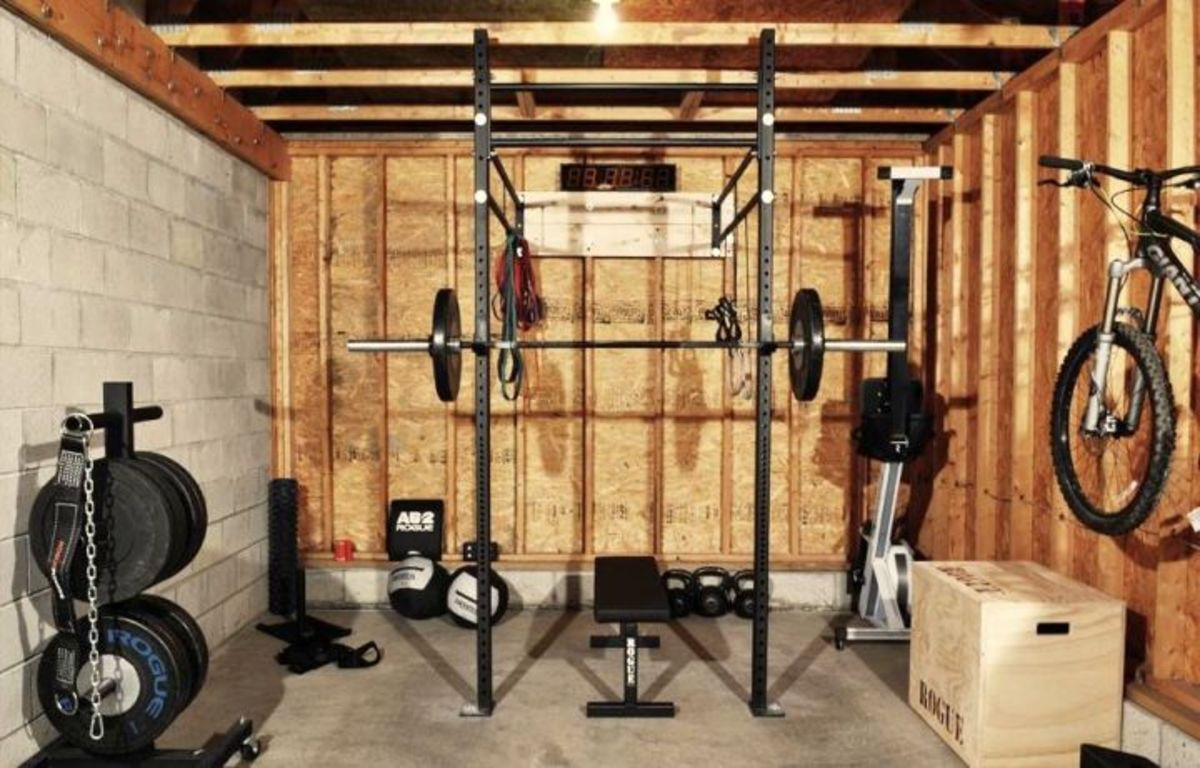 Cinder Block and Plywood Walls - Great Rustic Gym