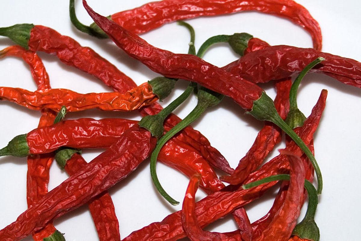 Dried Thai Dragon Peppers