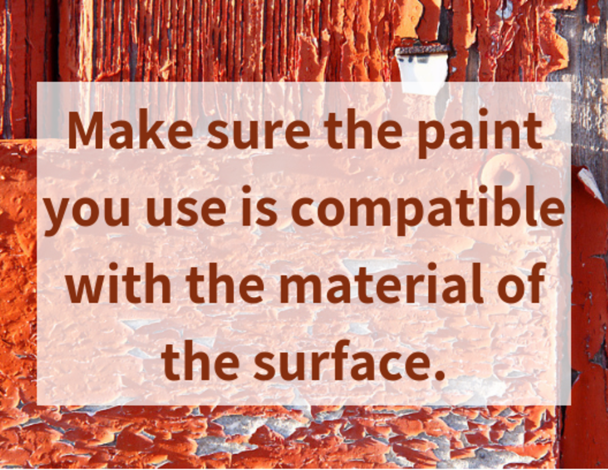 If the type of paint is incompatible with the surface, then there will surely be some peeling.